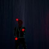 Leuchtball-Jonglage