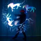 Leuchtjonglage-Grafik-Poi