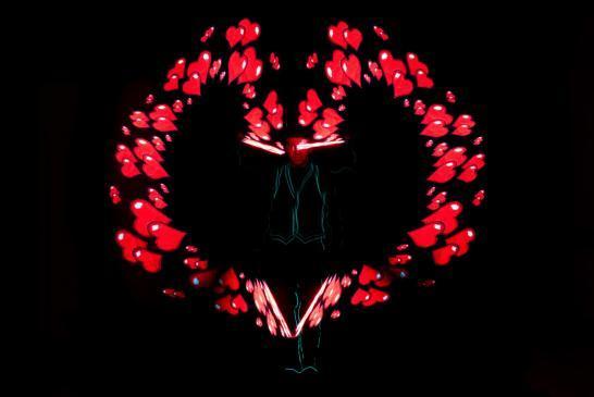 Lichtkünstler und Lichtshow